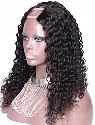 150% de densidade encaracolados u parte peruca para as mulheres negras cabelo humano de Remy brasileiro virgem 10-26inch 1,5 * 4 de