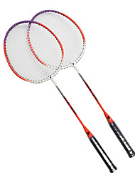 Raquettes de badminton(Blanc Orange,Nylon) -Durable