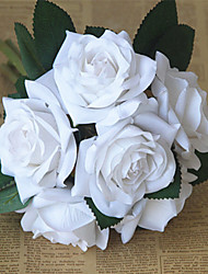 6 Branch/ Bouquet Silk Rose Hand Tied Bouquet Artificial flower