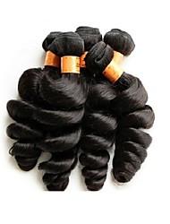 Atacado brazilian loose wave cabelo virgem 5bundles 500g lote 10a grau boa qualidade cor preto natural cabelo humano brasileiro teia