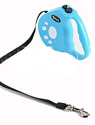 Dog Hands Free Leash Adjustable/Retractable Solid Blue Plastic