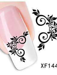 1sheet  Water Transfer Nail Art Sticker Decal XF1448