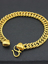 Men's 18k Gold Chain Bracelet with Dragon Christmas Gifts