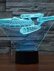 3d свет звезды Trek линкор цветной сенсорный привело видение лампы