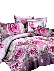 Mingjie 3D Reactive Butterfly Bedding Sets 4 Pcs for Queen Size Contain 1 Duvet Cover 1 Bedsheet 2 Pillowcases from China