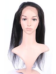 360 dentelle frontale haute qualité cheveux raides vierge humaine 8-20inch pour les femmes