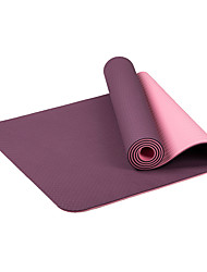 TPE Tapis de Yoga Ecologique Sans odeur 6 mm Rose Jaune Orange Violet Bleu Ciel Other