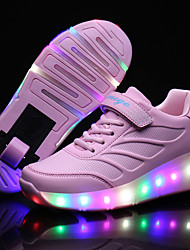 Kid Boy Girl Wheely's Roller Skate Shoes / Ultra-light Single Wheel Skating LED Light Shoes / Athletic / Casual LED Shoes