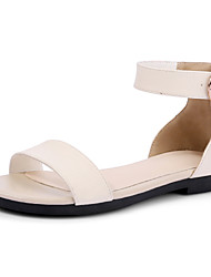 Women's Sandals Spring Summer Fall Gladiator Comfort Light Soles Leatherette Outdoor Dress Casual Flat Heel Buckle Black Pink White