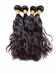 "4 Pcs Lot 12""-30"" Brazilian Natural Wave Virgin Hair Wefts Unprocessed Dark Brown Human Hair Weave  Tangle Free"
