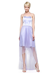 2017 Lanting Bride® Floor-length Tulle Stretch Satin Elegant Bridesmaid Dress - A-line Sweetheart with Pleats