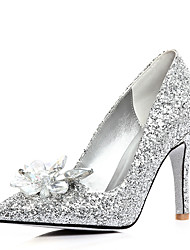 Women's Heels Spring Customized Materials Wedding Dress Party & Evening Stiletto Heel Sequin Sparkling Glitter Silver
