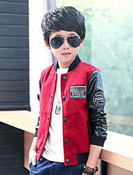 Boy Casual/Daily Solid Suit & Blazer,Cotton Rayon Spring