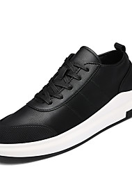 Men's Sneakers Spring Summer Fall Winter Comfort PU Outdoor Office & Career Casual Athletic Lace-up Black Blue