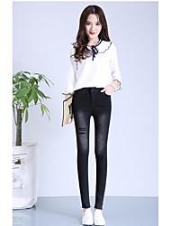 Sign 2017 spring new ultra elastic jeans autumn new Korean elastic waist leggings female
