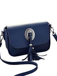 M.Plus Women's Fashion Tassel Splicing PU Leather Messenger Shoulder Bag/Handbag