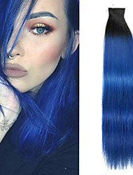 20Pcs/Lot 14Inch Tape In 100% Human Hair Extensions Skin PU Weft 40g Highlighted Straight Hair