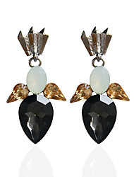 Drop Earrings Hoop Earrings Earrings Set Jewelry Women Wedding Party Casual Alloy Rhinestone 1 pair Black
