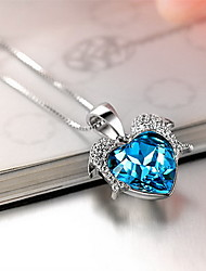 Pendants Crystal Sterling Silver Austria Crystal Basic Fashion Luxury Jewelry For Daily Casual