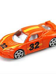 Voiture de Course Jouets Jouets de voiture 1:64 Métal Plastique Orange Maquette & Jeu de Construction