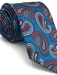 Mens Necktie Tie Blue Paisley 100% Silk Business Fashion For Men