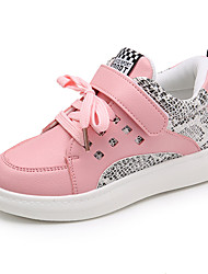 Girl's Sneakers Spring Fall Winter Comfort PU Casual Low Heel Magic Tape Black Pink White Other