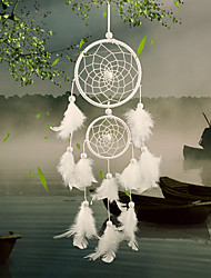 2PC Dream Catcher Decor Hanging With Feathers Hanging Decoration Dreamcatcher Net India Style Hourse Decoration