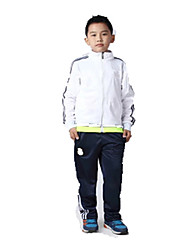 Kid's Soccer Clothing Sets/Suits Breathable Comfortable Spring Fall/Autumn Winter Solid Terylene Football/Soccer White