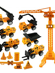 Construction Vehicles Pull Back Vehicles 1:20 ABS Yellow