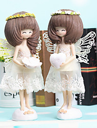 1PC Valentine's Day Zakka Angel Girl Bass Girl Resin Furnishing Articles Home Decoration 8cm*18cm