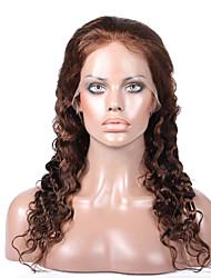 premierwigs 8a 8 '' - 26 '' de profondeur sans colle vierge dentelle pleine vague de corps brésilienne de cheveux humains perruques