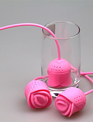 Creative Silicone Rose Tea Filters The Silicone Tea Roses Tea tea Strainer