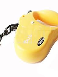 Dog Hands Free Leash Adjustable/Retractable Solid Yellow Plastic