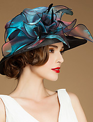 Women's Flower Girl's Flax Organza Silk Headpiece-Special Occasion Casual Outdoor Hats