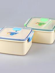 BPA microondas gratuito e máquina de lavar louça lancheira quadrado segura com divisor