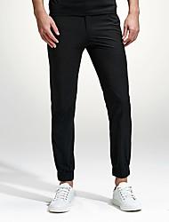 Hommes Grandes Tailles Slim Mince Chino Pantalon,simple Street Chic Actif Décontracté / Quotidien Soirée Sportif Couleur PleineTaille
