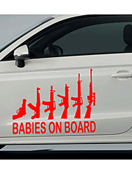 Car decoration car stickers car stickers guns
