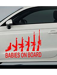 décoration de voiture autocollants de voiture autocollants de voiture canons