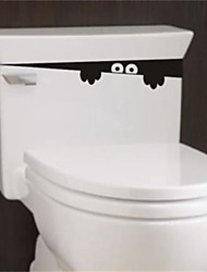 1Pcs 28Cm*4Cm  Funny Peek Monster Toilet Seat Bathroom Wall Car Decal Sticker Vinyl Art Mural