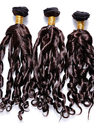 "3pcs/lot 12""-30""  Unprocessed 6A Brazilian Virgin Hair Dark Brown Spiral Curl Human Hair 100% Human Hair Weaves"