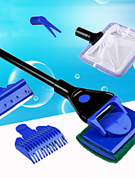 Aquarium Cleaner 5-In-1 Brush Adjustable Cleaning Set