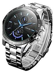 LONGBO Pánské Dámské Unisex Sportovní hodinky Módní hodinky Náramkové hodinky Křemenný Slitina Kapela Retro Běžné nošení VícebarevnýBílá