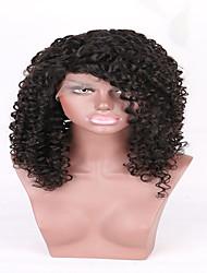 de alta qualidade barato cheia do laço perucas brasileiros humanos virgens excêntricas encaracolados humanos virgens de cabelo com cabelo