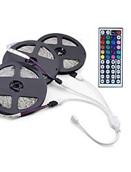 15m 3 * 5m 3528 rgb 900 conduit de lumière flexible avec lumières LED sans courant continu d'eau 12v 900led et kit 44key de télécommande