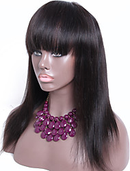 8A Grade Unprocessed Brazilian Human Hair Wigs Lace Front Human Hair Wigs with bangs