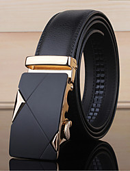 Men Cowhide Waist Belt Alloy