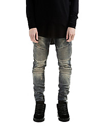 Men's Harem Chinos PantsCasual/Daily Simple Solid Mid Rise Drawstring Cotton Micro-elastic Spring Fall Hot Sale High Quality