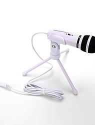 caliente venta de audio micrófono de condensador de la grabación de sonidos con el montaje de choque clip de sujeción con el mando de