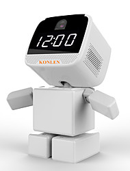 WIFI Clock Robot IP Camera PTZ HD Baby Monitor Wireless Remote Home Control CCTV Security 960P Night Vision Audio with TF Card Slot