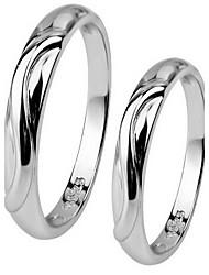 Ringe Ohne Stein Party Alltag Schmuck Sterling Silber Mädchen Ring 1 Stück,Eine Größe Silber